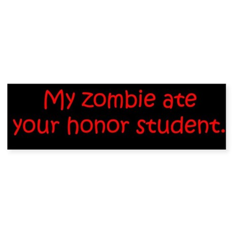 My Zombie Sticker (Bumper)