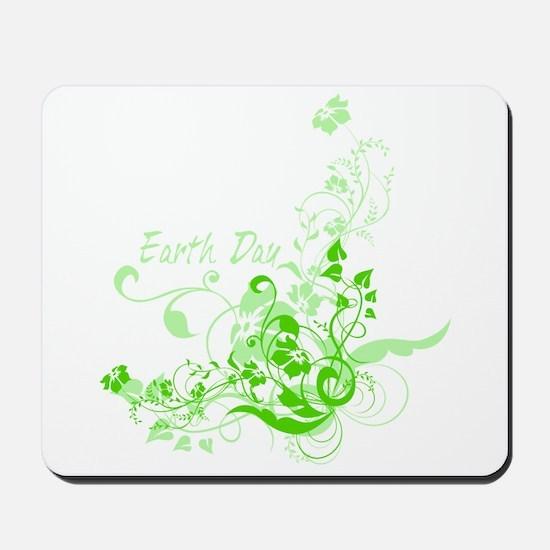 Earth Day Swirls Mousepad