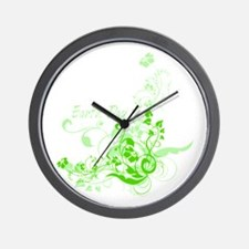Earth Day Swirls Wall Clock