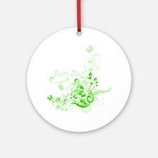 Earth Day Swirls Round Ornament