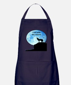 I Run With The Wolves Apron (dark)