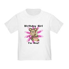 Monkey 1st Birthday Girl T
