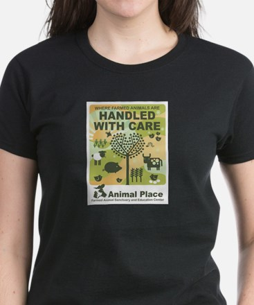 Handled With Care-Adult Clothing Women's Dark T-Sh