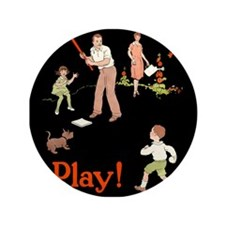 """Family Play Time 3.5"""" Button"""