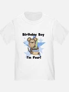 Monkey 4th Birthday Boy T
