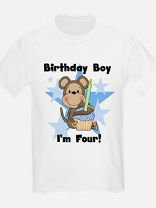 Monkey 4th Birthday Boy T-Shirt