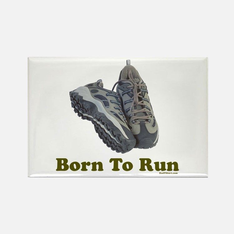 Born To Run Dad Jogging Rectangle Magnet
