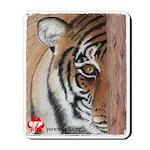 Pastel Drawing PAWS Tiger Mousepad