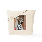Pastel Drawing PAWS Tiger Tote Bag