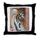Pastel Drawing PAWS Tiger Throw Pillow