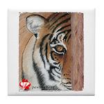 Pastel Drawing PAWS Tiger Tile Coaster