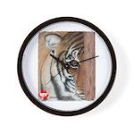 Pastel Drawing PAWS Tiger Wall Clock