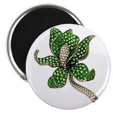 Emerald Flower Magnet