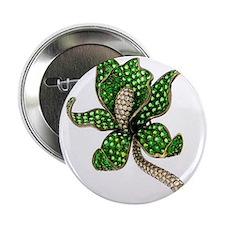 "Emerald Flower 2.25"" Button"