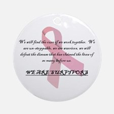 Breast Cancer Survivors Ornament (Round)
