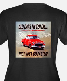 OLD CARS NEVER DIE...THEY JUS Women's Plus Size V-