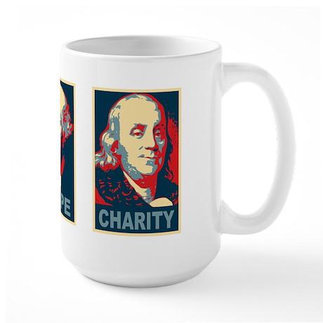Faith Hope Charity Large Coffee Mug