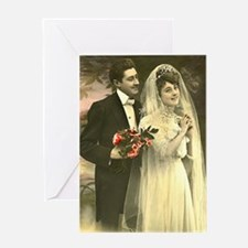 VINTAGE WEDDING COUPLE Greeting Card