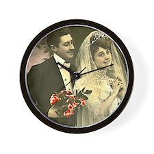 VINTAGE WEDDING COUPLE Wall Clock