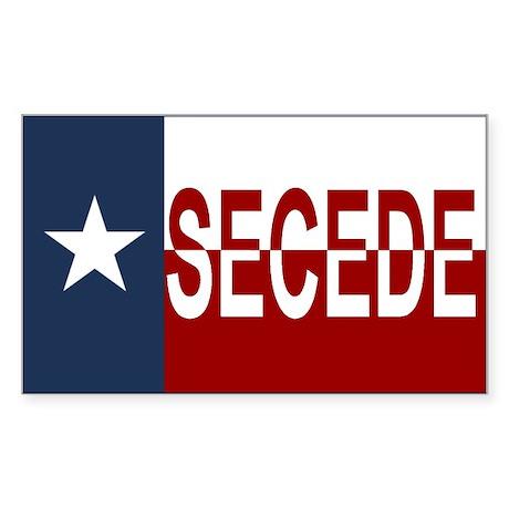 Texas Secession Sticker (Rectangle)