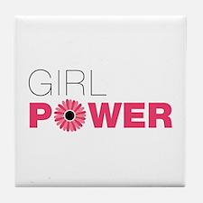 Cute Girl power Tile Coaster