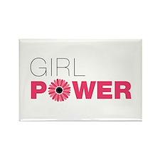 Funny Girl power Rectangle Magnet