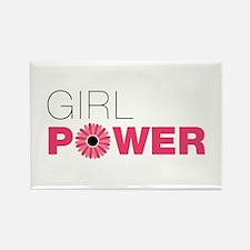 Cute Girl power Rectangle Magnet