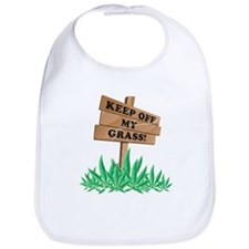 Keep Off My Grass Weed Bib