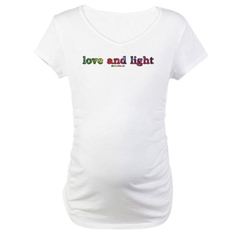 Love and Light Maternity T-Shirt