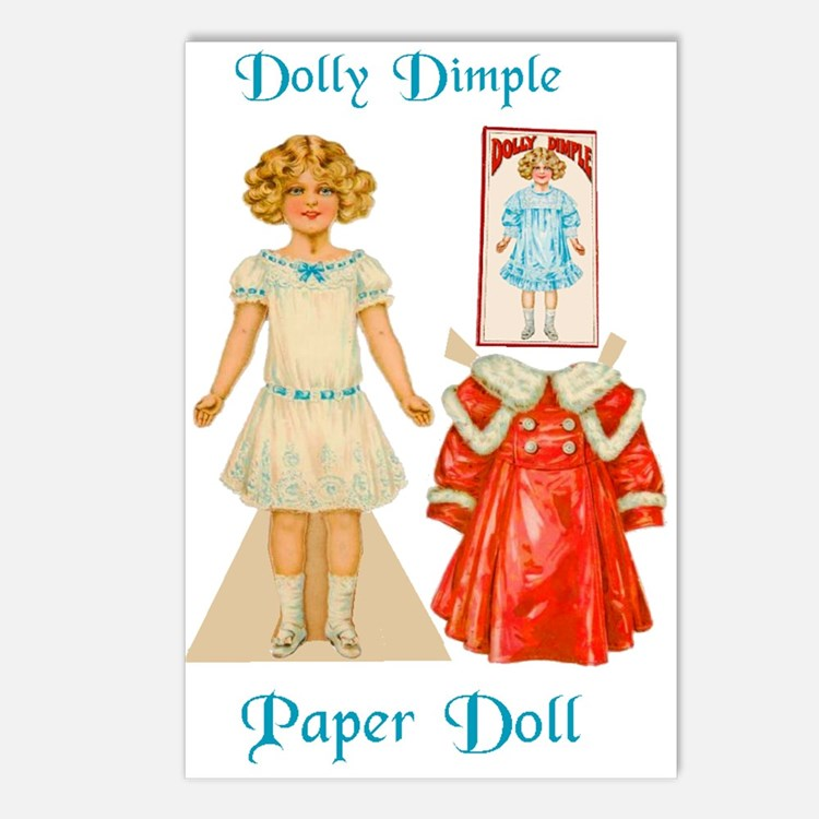 DOLLY DIMPLE Paper Doll Postcards (Package of 8)