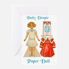 DOLLY DIMPLE Paper Doll Greeting Card