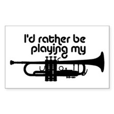 Trumpet Player Decal