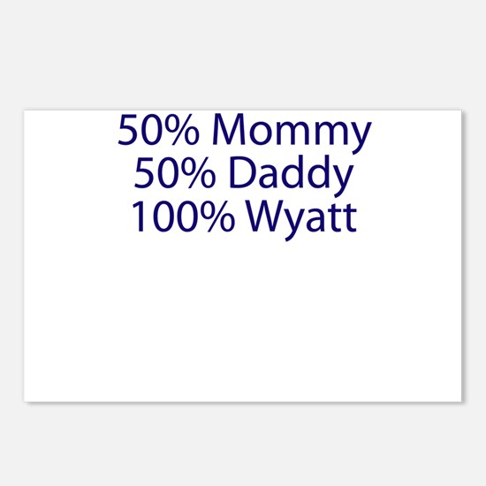 100% Wyatt Postcards (Package of 8)
