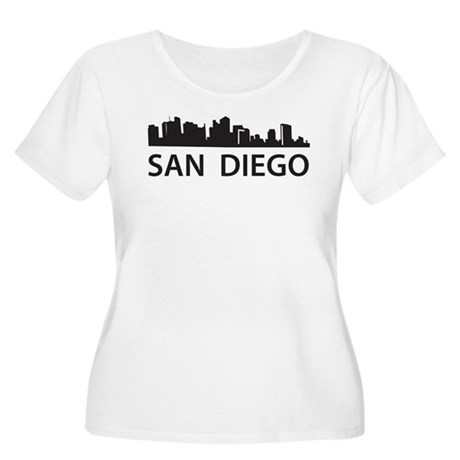 San Diego Skyline Women's Plus Size Scoop Neck T-S