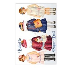 Antique Paper Doll BABETTE Postcards (Package of 8