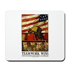 Teamwork Wins Mousepad