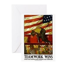Teamwork Wins Greeting Cards (Pk of 20)
