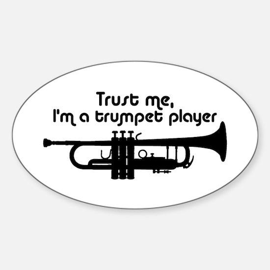 Trumpet Player Sticker (Oval)