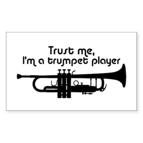 Trumpet Player Sticker (Rectangle)