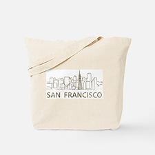 Vintage San Francisco Tote Bag