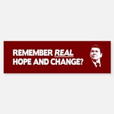 Ronald Reagan Hope and Change Bumper Bumper Bumper Sticker