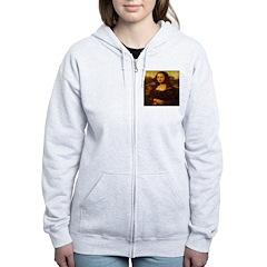 Mona Lisa Photo Collage Zip Hoodie