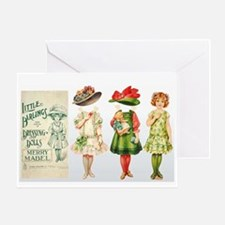 MERRY MABEL Paper Doll Greeting Card