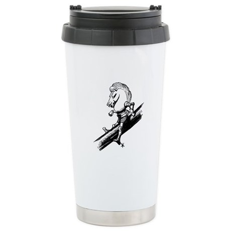 White Knight Stainless Steel Travel Mug