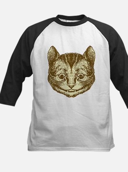 Cheshire cat Sepia Kids Baseball Jersey