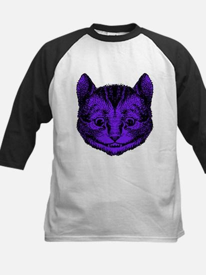 Cheshire Cat Purple Fill Kids Baseball Jersey