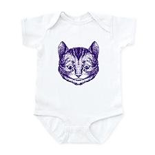 Cheshire Cat Purple Infant Bodysuit