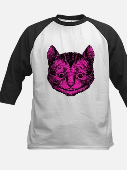 Cheshire Cat Pink Fill Kids Baseball Jersey