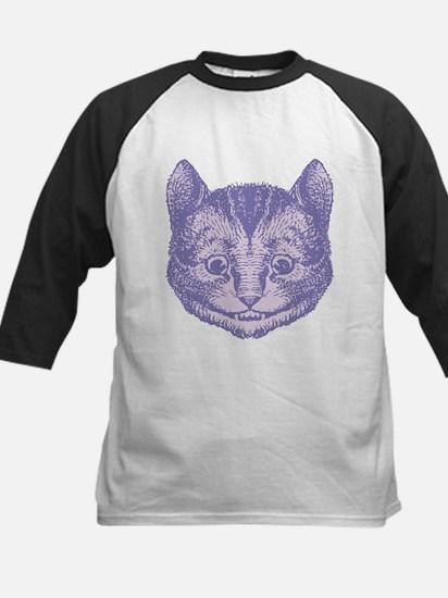 Cheshire Cat Lavender Kids Baseball Jersey
