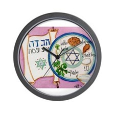 Passover Plate Wall Clock